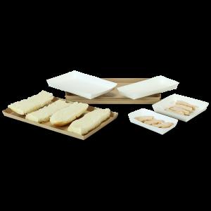 Bandejas Veltone con recubrimiento de polipropileno para alimentos