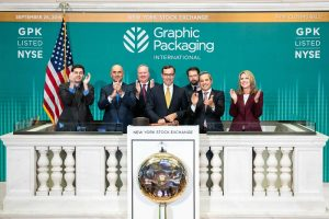 Members of GPI's executive team ring the NYSE closing bell.