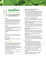 ecotainer FAQs